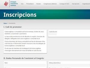 Inscripcions al 3r Congrés Protestant de Catalunya