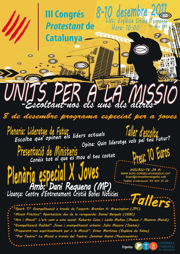 Poster Programa Jove 3r Congrés Protestant